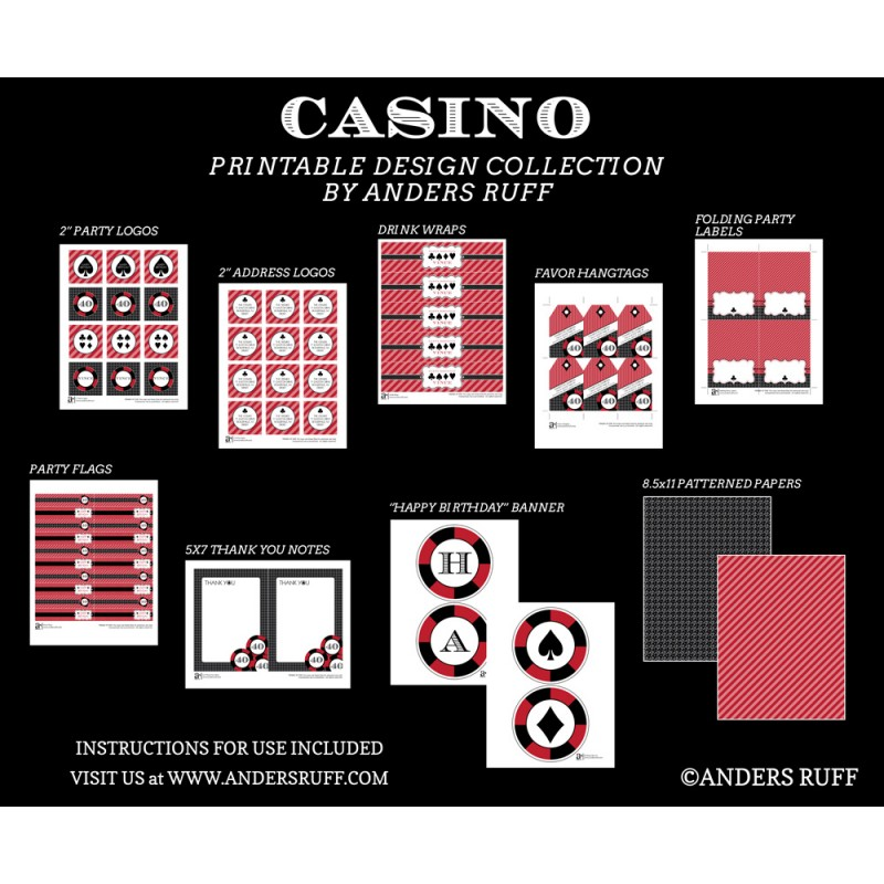 free casino party printables printable invitations 800x800 designs color hk flag colo coloring pages Free Printable Casino Party Invitations