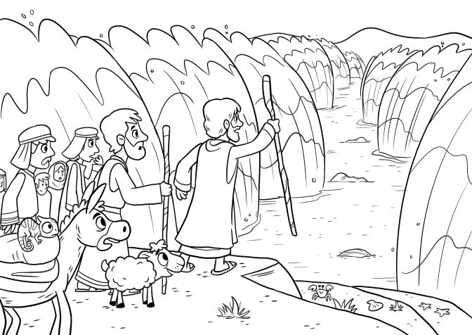 free collection of moses parting sea coloring library the red jixpa8kdt human body coloring pages Moses Parting The Red Sea Coloring Page