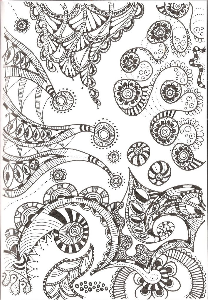 free collection of printable zentangle for adults coloring library worksheets patterns coloring pages Free Printable Zentangle Worksheets