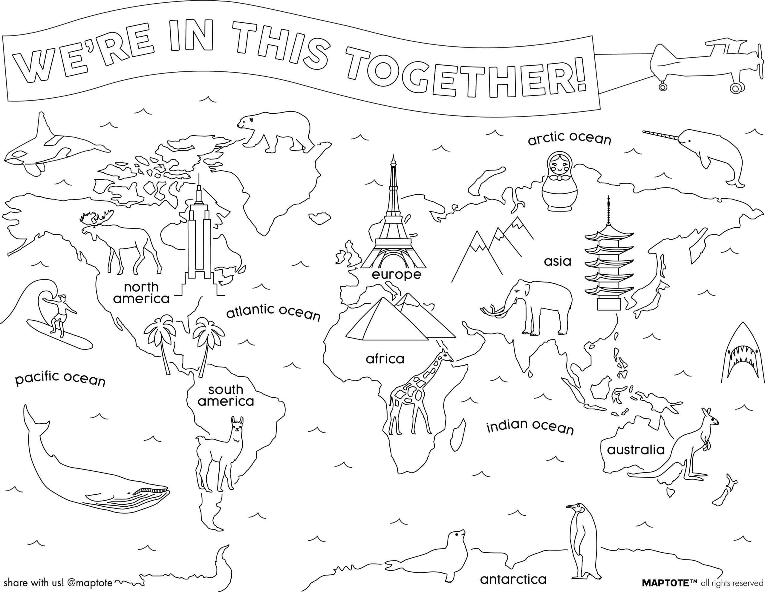 free coloring card downloads maptote worldmap coloringsheet scaled color stick calendars coloring pages Antarctica Coloring Page
