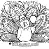 free coloring for thanksgiving illustration by steph hearts and laserbeams crayola coloring pages Coloring Page Turkey