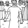 free coloring jesus heals the paralyzed man walls paralytic color markers kids party kit coloring pages Jesus Heals The Paralytic Man Coloring Page