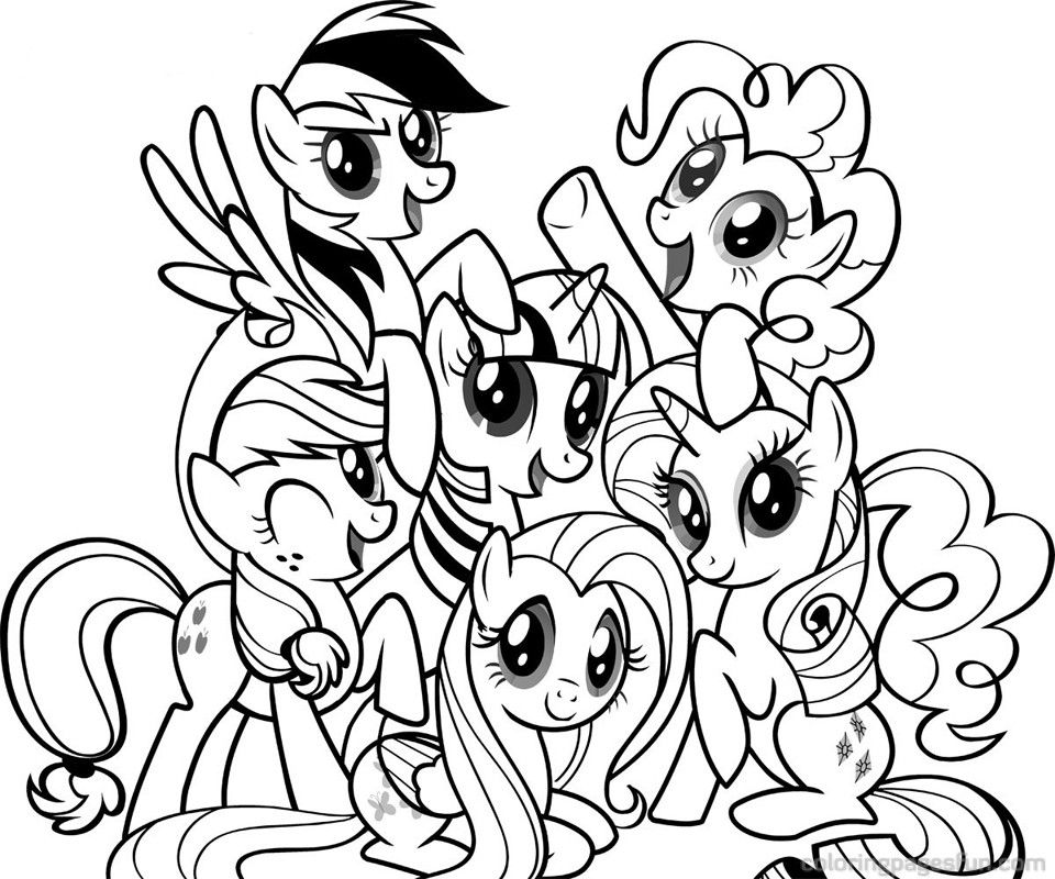free coloring of my little pony september printable drawing marker fabric paper diy kits coloring pages My Little Pony Free Coloring Page