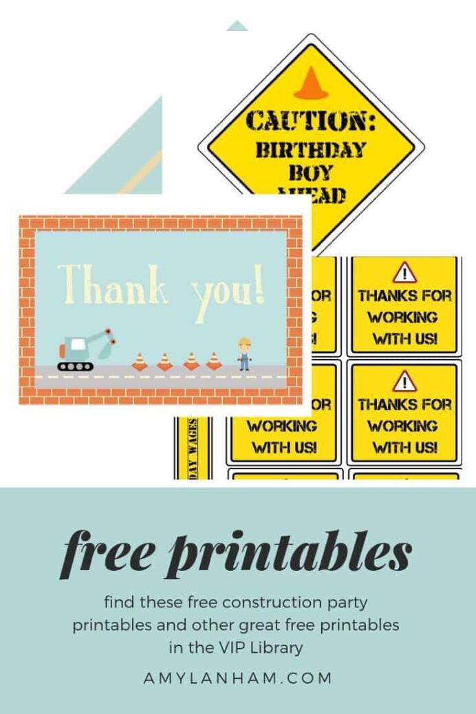 free construction party printables lanham creations printable signs color mickey mouse coloring pages Free Printable Construction Party Signs