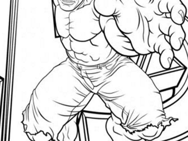 free easy to print hulk coloring tulamama the avengers 660x495 painting blocks and colors coloring pages The Hulk Coloring Page