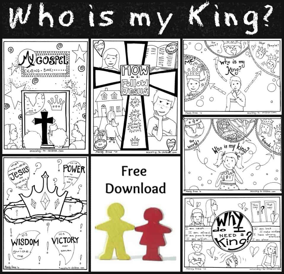free gospel coloring book jesus is ministry to children follow my halloween things color coloring pages Follow Jesus Coloring Page
