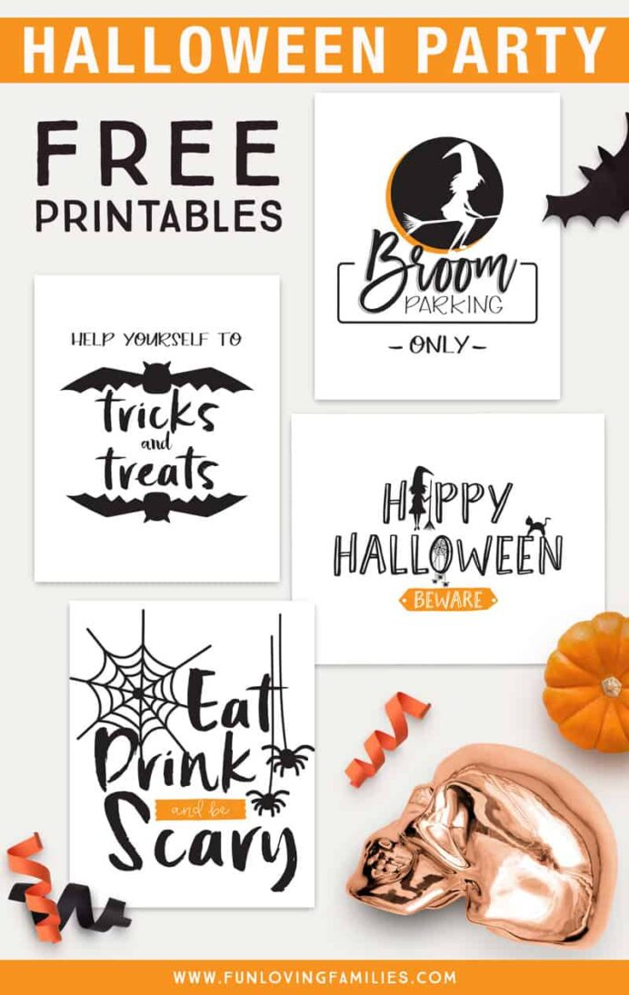 free halloween party printables fun families happy signs printable the kindness quilt coloring pages Happy Halloween Signs Printable Free
