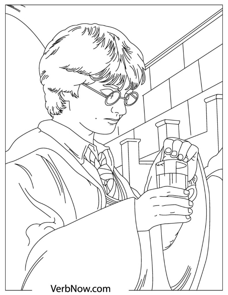 free harry coloring for pdf verbnow hogwarts june7 791x1024 color elsa and anna wash able coloring pages Hogwarts Coloring Page