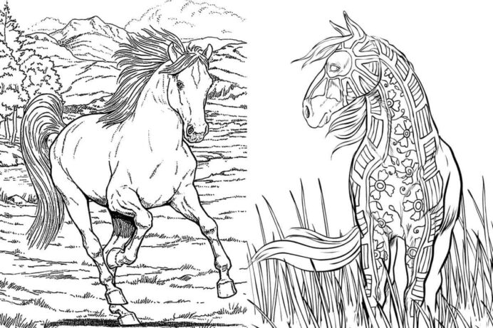 free horse coloring for adults kids cowgirl magazine coloringm optimal crayola neon coloring pages Free Horse Coloring Page
