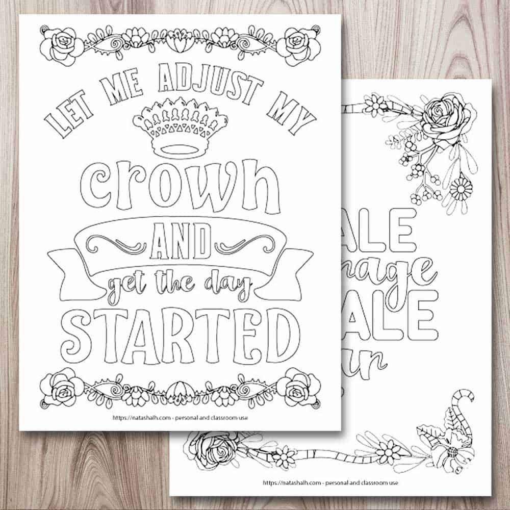 free inspirational coloring for when you re having tough the artisan life printable quote coloring pages Inspirational Coloring Page