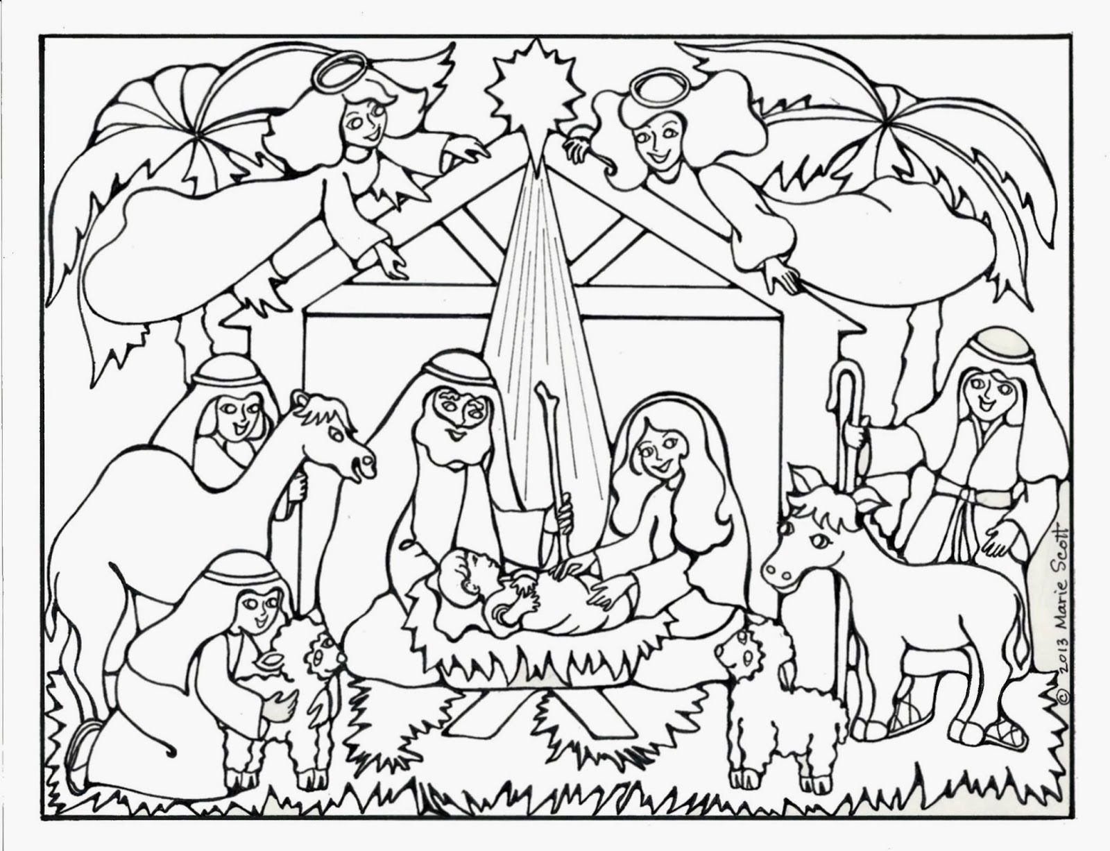 free jesus birth coloring images on clipart library ncbgk795i paiint silhouette gorilla coloring pages Jesus Birth Coloring Page