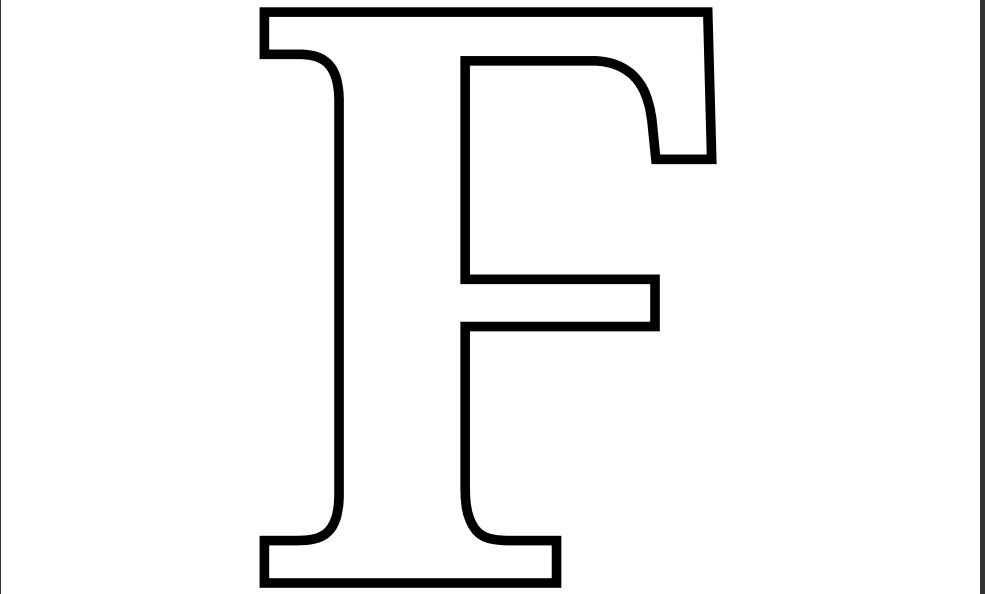 free letter coloring alphabet printable letters for teen girls christmad idiom in art coloring pages F Coloring Page