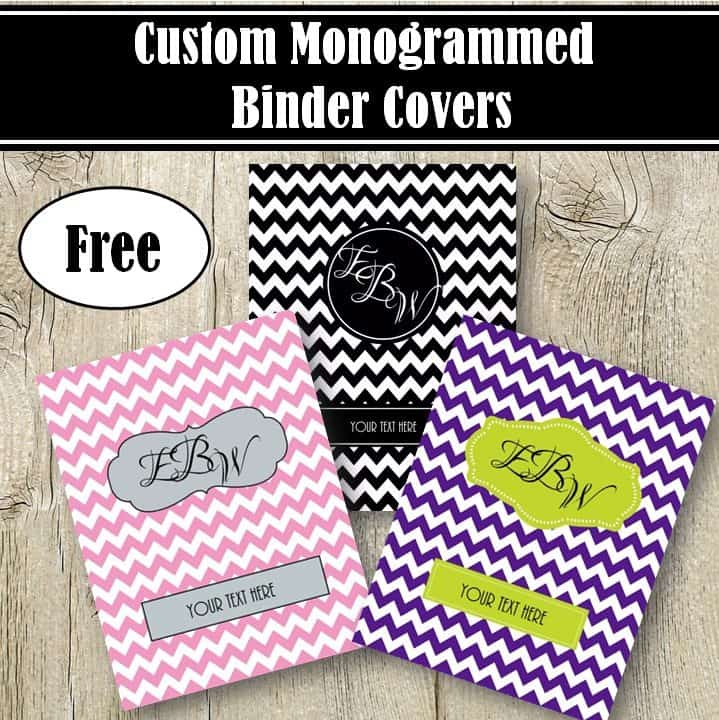 free monogram binder cover printable covers no dark teal marker short thermos color in coloring pages Free Printable Monogram Binder Covers No Download