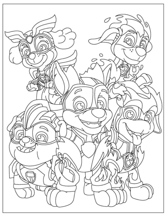 free paw patrol coloring to pdf verbnow page2 apr28 791x1024 paint edge effects clean coloring pages Coloring Page Paw Patrol