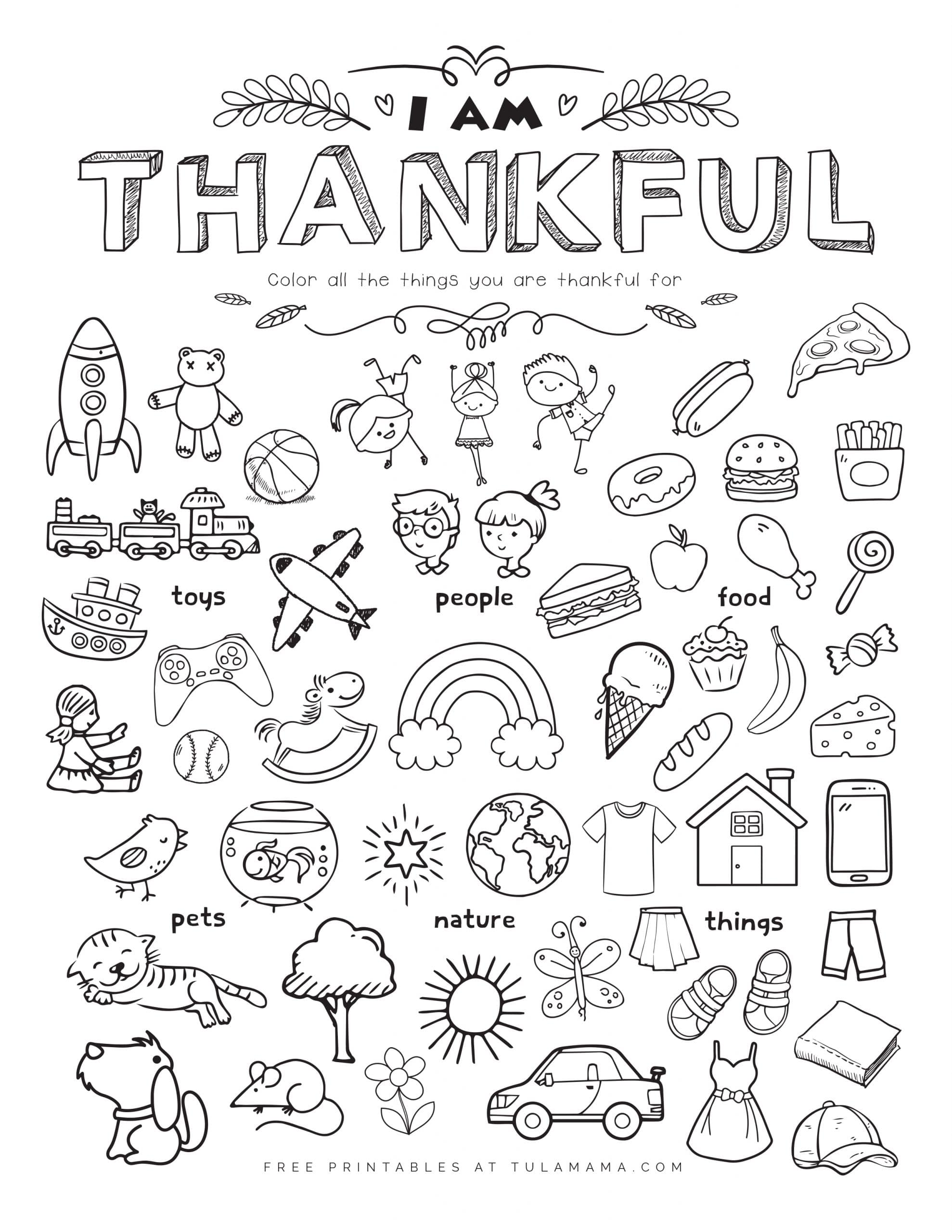 free printable am thankful for worksheet tulamama coloring scaled letters art and craft coloring pages I Am Thankful For Coloring Page