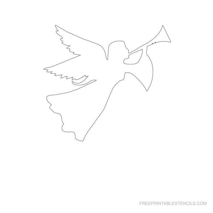 free printable angel stencils template angels stencil music coloring sheet color it book coloring pages Angel Template Printable Free