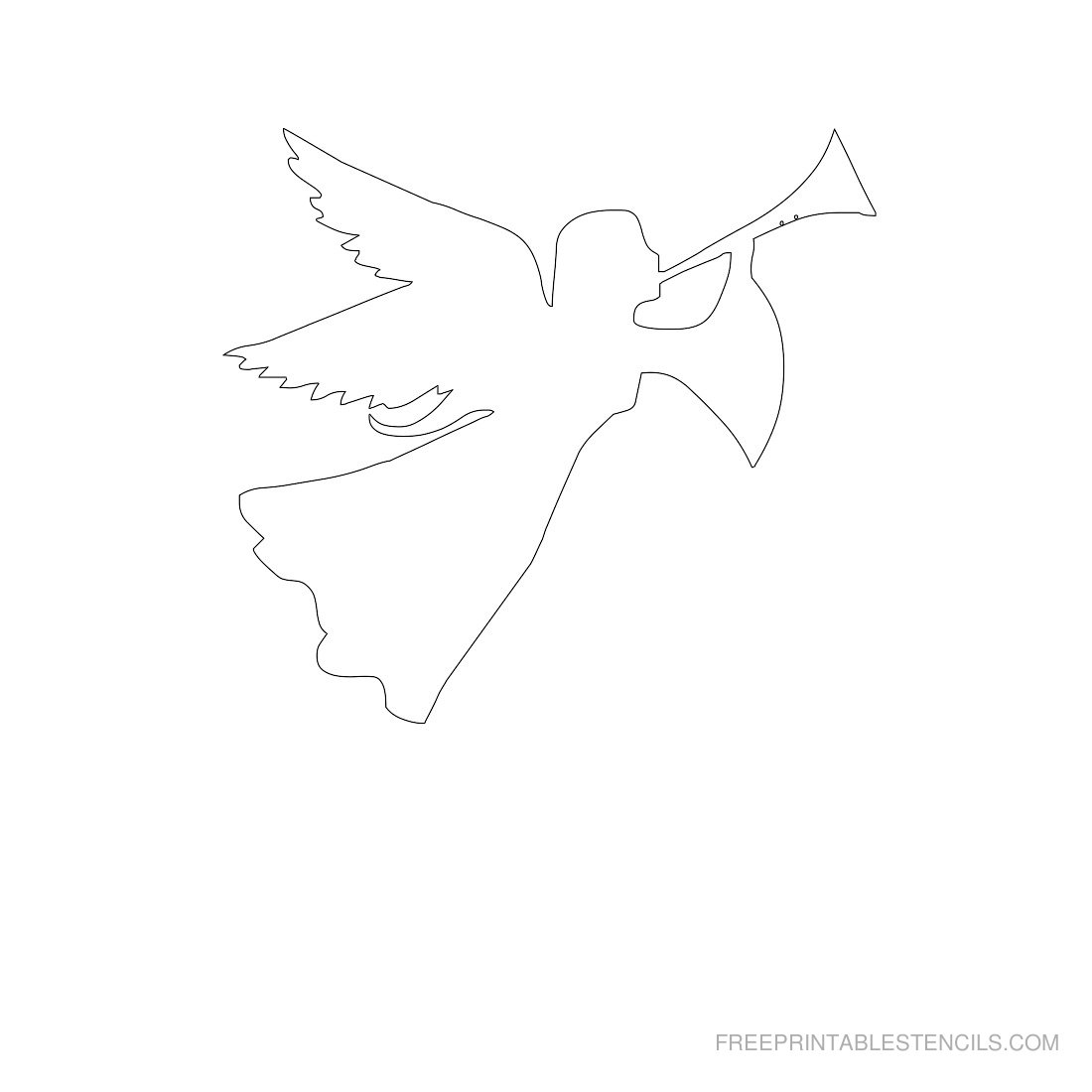 free printable angel stencils templates angels stencil crayola magnetic double easel coloring pages Angel Templates Printable Free