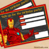 free printable avengers man birthday invitation invitations 5x7 invites drawinf with coloring pages Free Printable Avengers Birthday Invitations