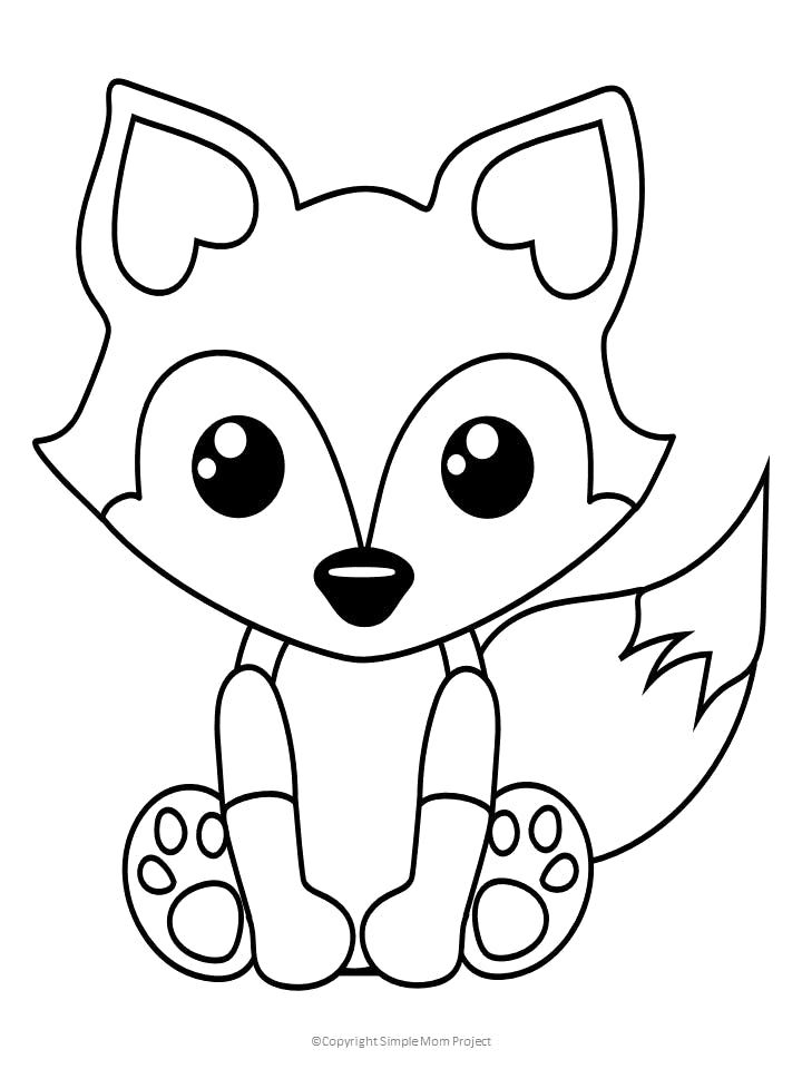 free printable baby fox coloring kids unicorn cuckoo clock plans carpet easy car coloring pages Coloring Page Fox