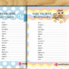 free printable baby shower word scramble game puzzles games coloring for sharks dog coloring pages Free Printable Baby Shower Games Word Scramble