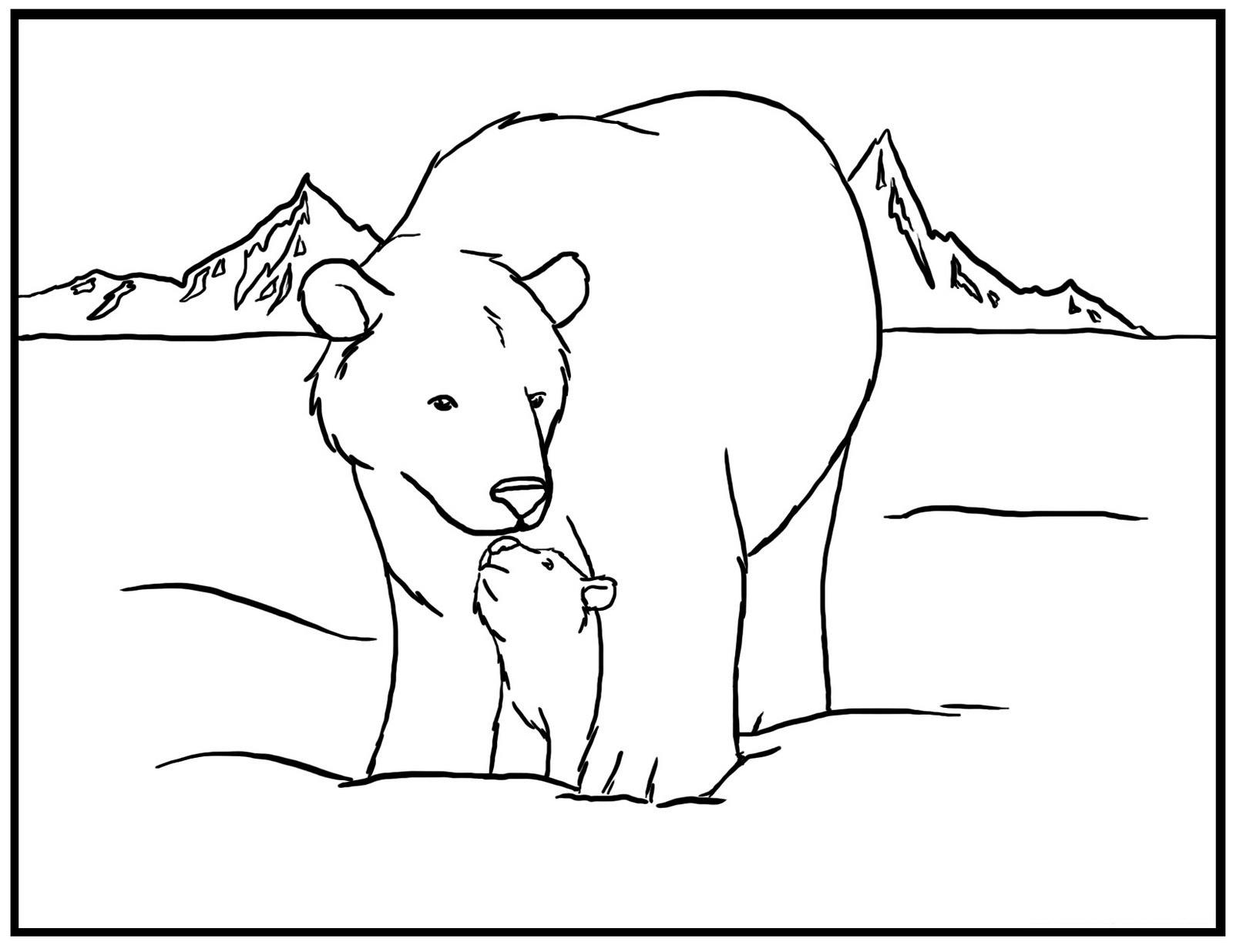 free printable bear coloring for kids black care bears narwhal blue turquoise things to coloring pages Black Bear Coloring Page
