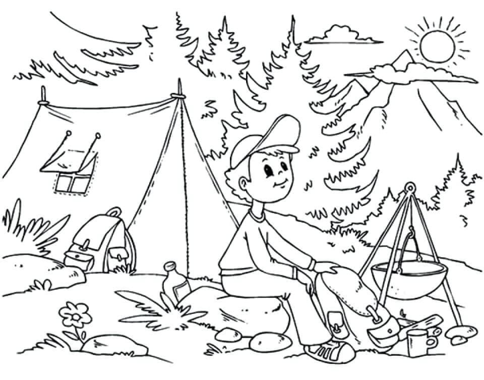 free printable camping coloring for kids crayonla markers in bulk splash mash apps coloring pages Camping Coloring Page