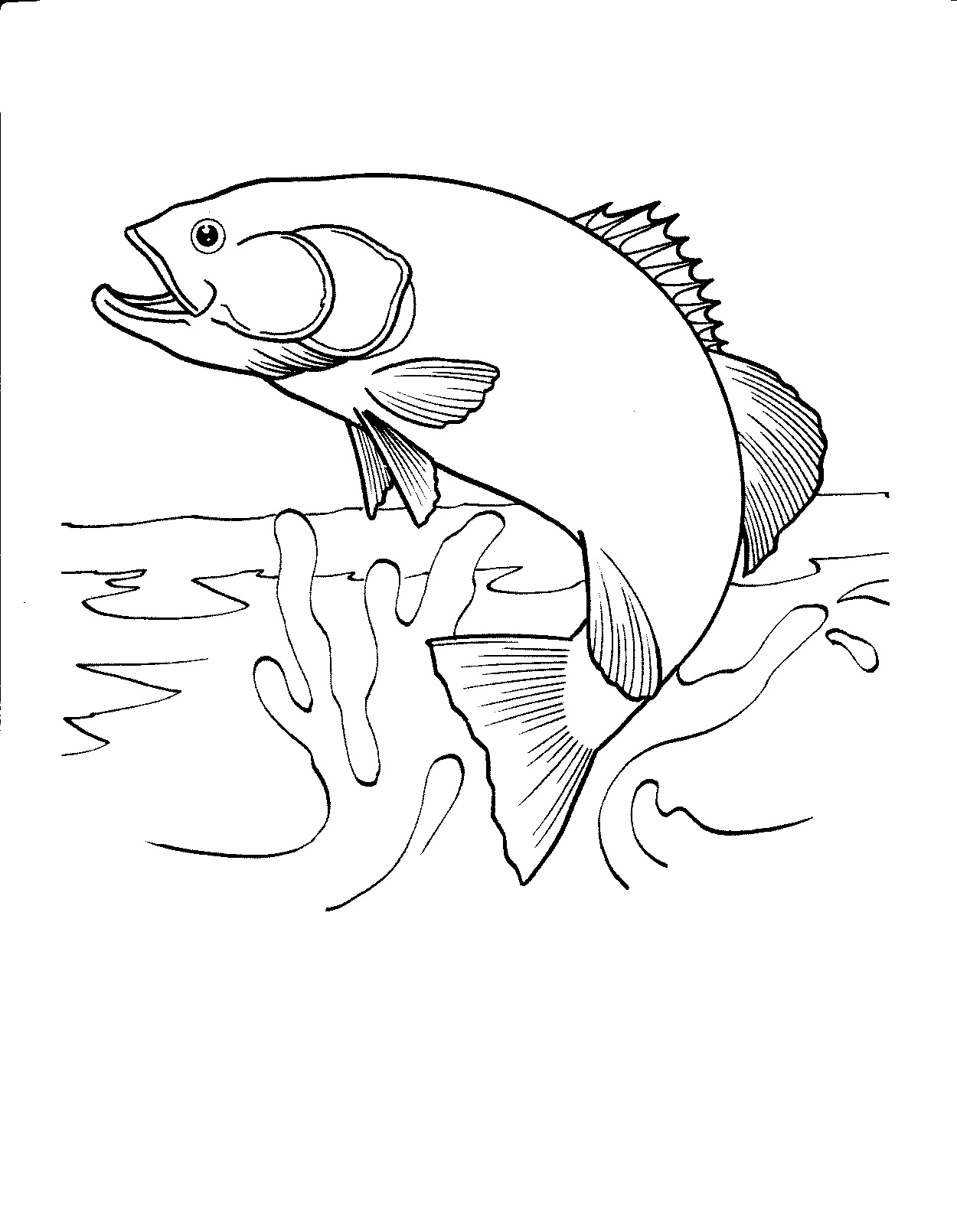 free printable fish coloring for kids of realistic stick animals best crayola products coloring pages Coloring Page Of Fish