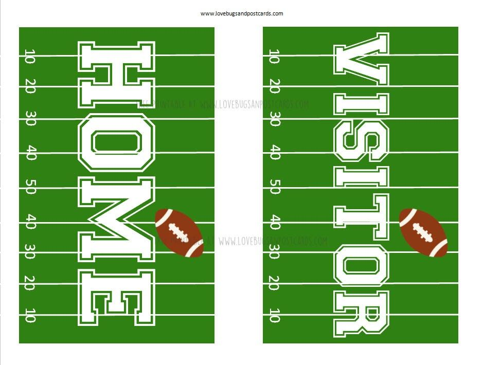 free printable football decorations tips for getting ready the big game printables signs coloring pages Free Printable Football Decorations
