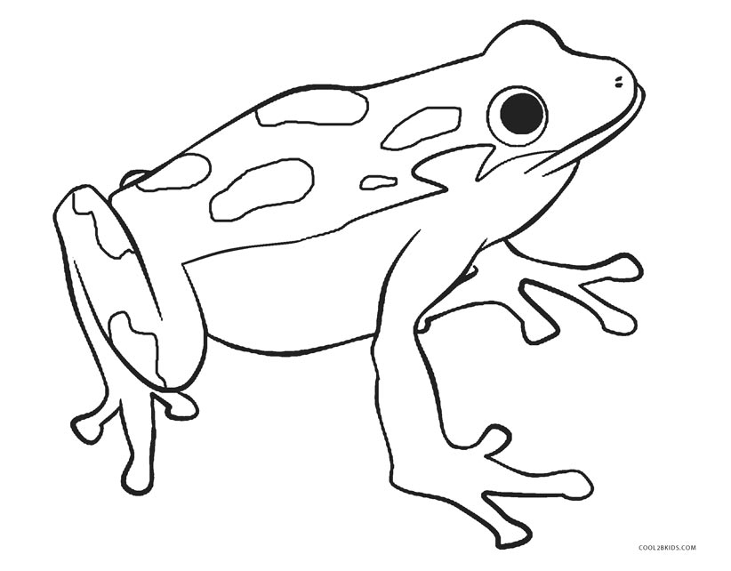 free printable frog coloring for kids to print letters in cursive the importance of coloring pages Coloring Page Frog
