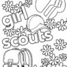 free printable girl scout coloring for kids cookie washable tempera paint project kit coloring pages Girl Scout Cookie Coloring Page