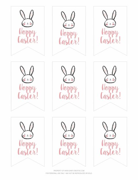 free printable hoppy easter gift tags tag happy diy thanksgiving celebrating good times coloring pages Easter Tags Printable Free