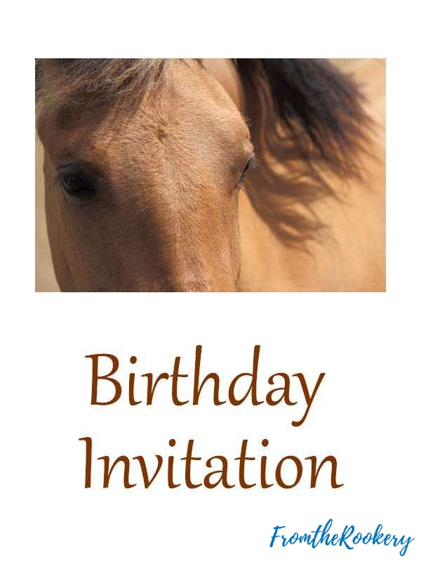 free printable horse birthday invitations party crayola crayons pack back to school coloring pages Horse Birthday Party Invitations Printable Free