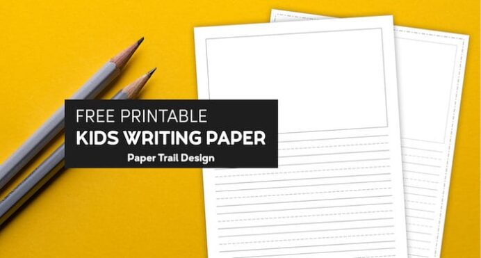 free printable lined writing paper with drawing box trail design short colors of kwanza coloring pages Free Printable Writing Paper With Picture Box