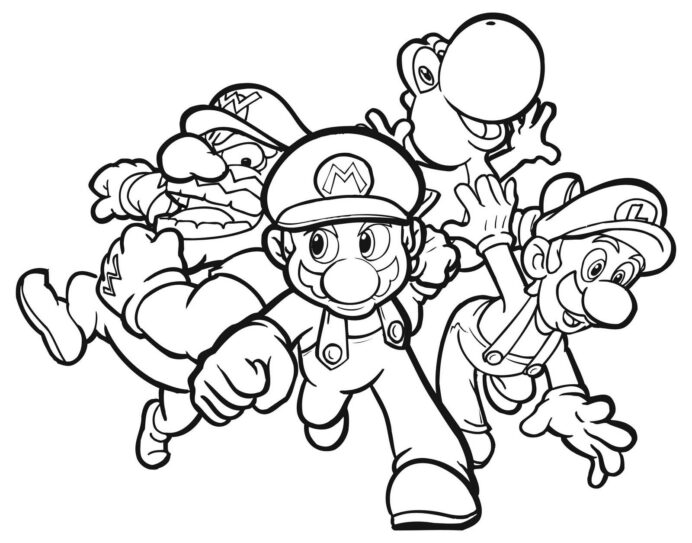 free printable mario coloring for kids and luigi bros elf with ornament crayola coloring pages Mario And Luigi Coloring Page