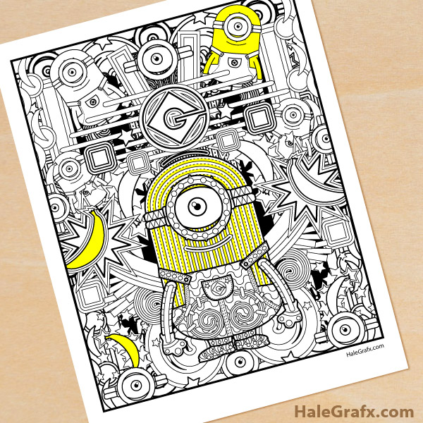 free printable minion coloring for adults adult crayola recycle program pencil techniques coloring pages Free Printable Minion Coloring Pages