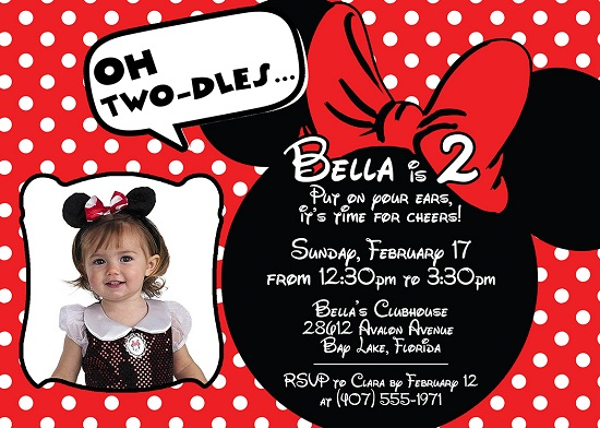 free printable minnie mouse birthday party invitations dolanpedia red ideas with photo coloring pages Free Printable Minnie Mouse Birthday Invitations