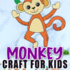 free printable monkey craft template simple mom project give five poster for preschoolers coloring pages Give Me Five Poster Printable Free
