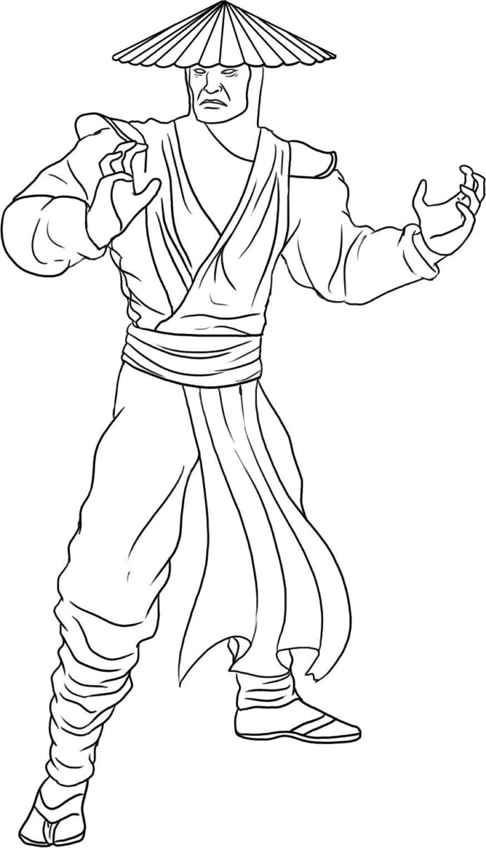 free printable mortal kombat coloring for kids remove acrylic paint halloween sign coloring pages Mortal Kombat Coloring Page