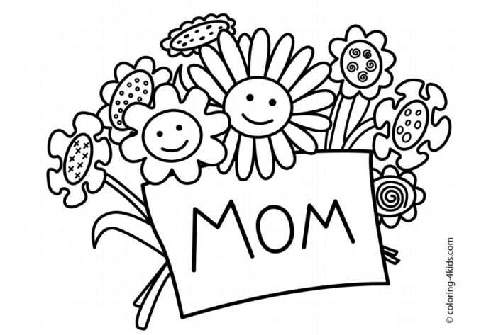 free printable mother coloring mothers melted crayons frozen ii activity sheets money coloring pages Printable Mothers Day Coloring Page