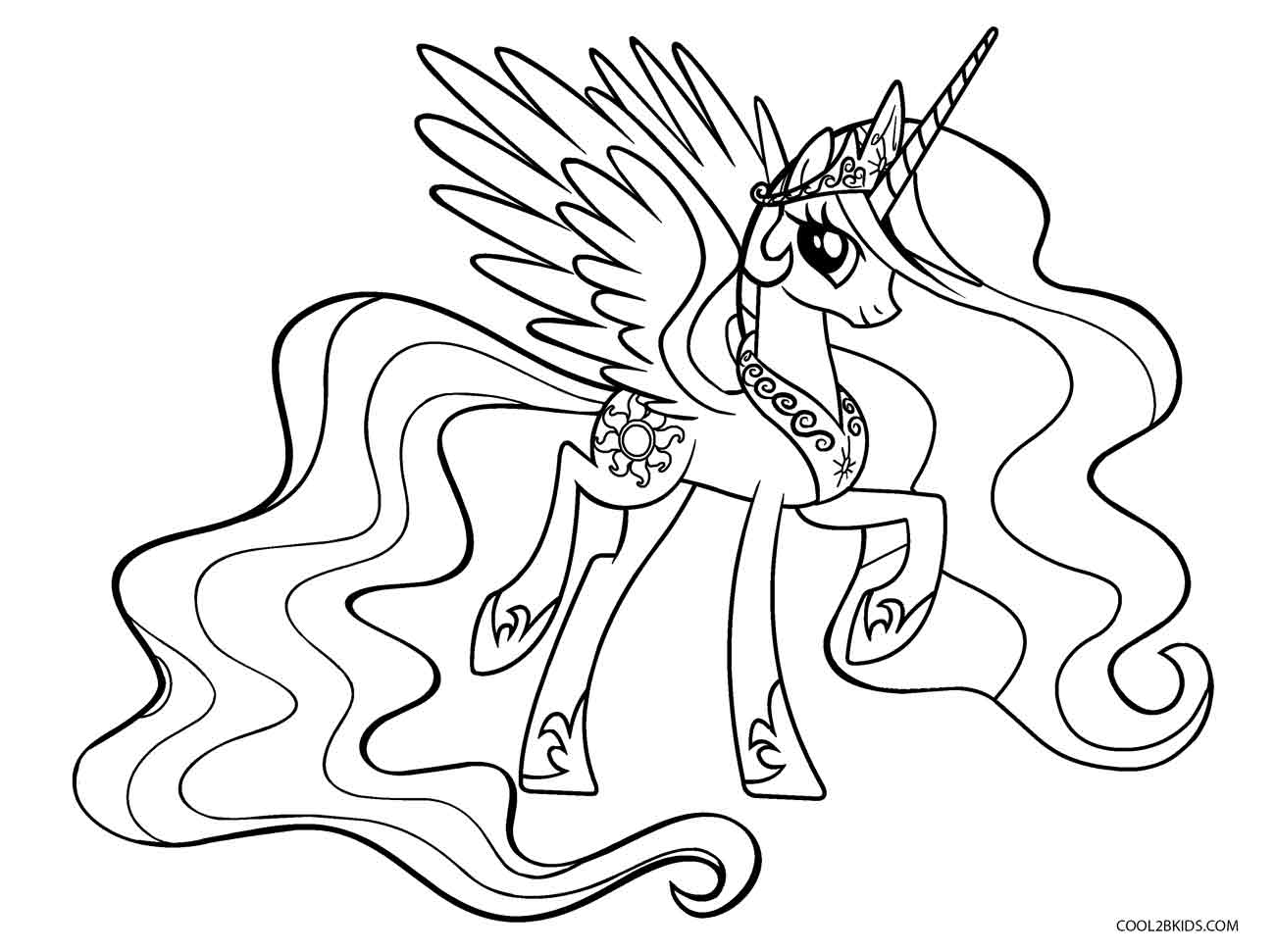 free printable my little pony coloring for kids mlp princess celestia discover fun crafts coloring pages Mlp Coloring Page