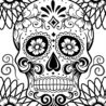 free printable of the coloring best for kids skulls scented pencils walmart full color coloring pages Day Of The Dead Coloring Page