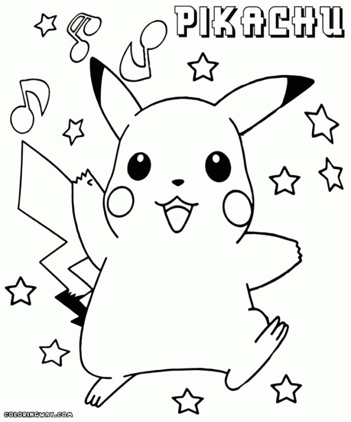 free printable pikachu coloring everfreecoloring best beginner chemistry set animal coloring pages Coloring Page Pikachu