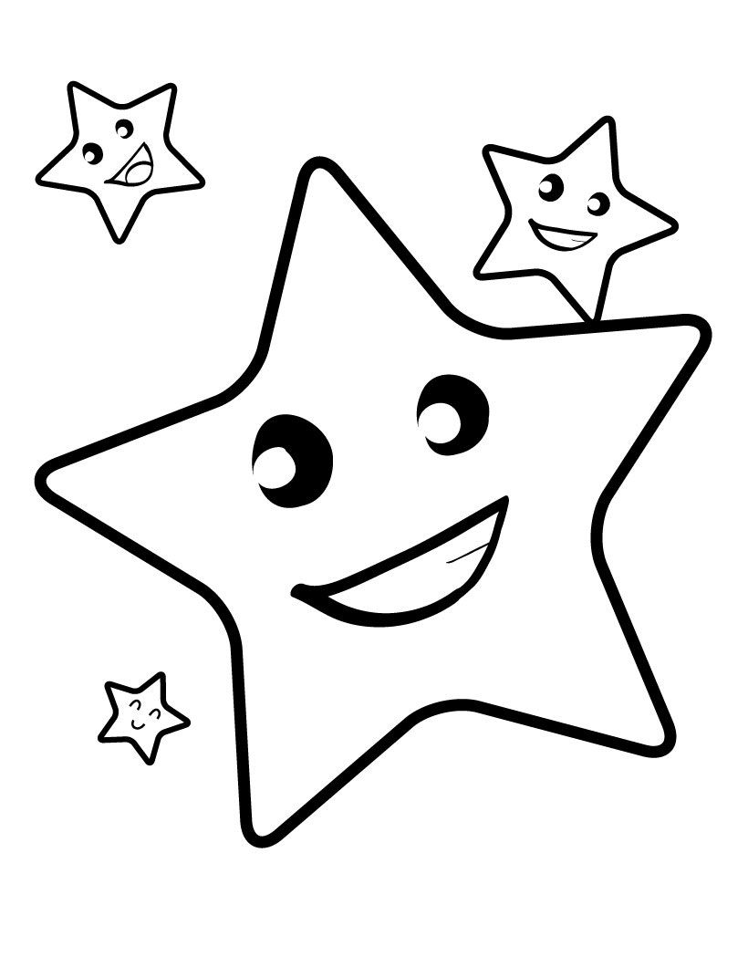 free printable star coloring for kids pictures shape stars fingerprint painting frozen coloring pages Stars Coloring Page