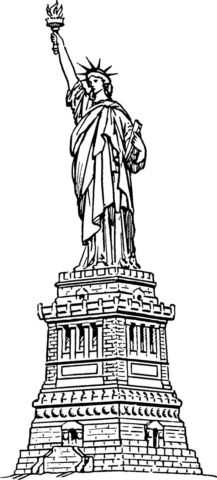 free printable statue of coloring for kids black and crayola building markers coloring pages Statue Of Liberty Black And White Coloring Page