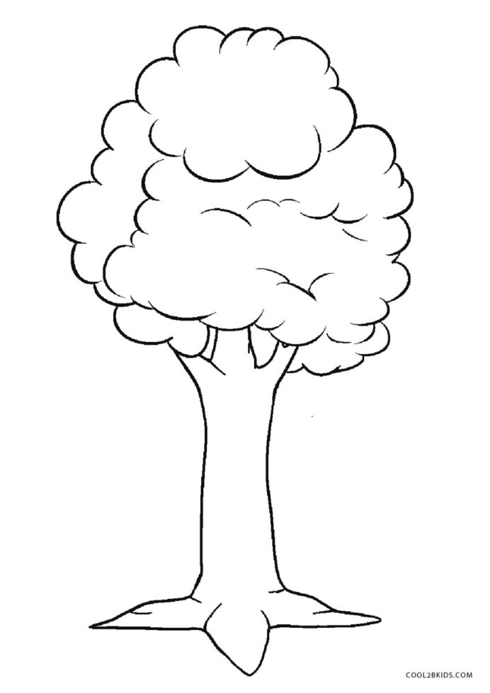 free printable tree coloring for kids of line art hands star sheet police diy stained coloring pages Coloring Page Of A Tree