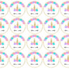 free printable unicorn cupcake toppers paper trail design template topper prowl pleen coloring pages Free Printable Cupcake Toppers Template