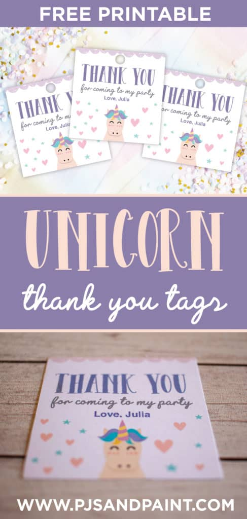 free printable unicorn thank you tags instantly and print for birthdays 487x1024 coloring coloring pages Free Printable Thank You Tags For Birthdays