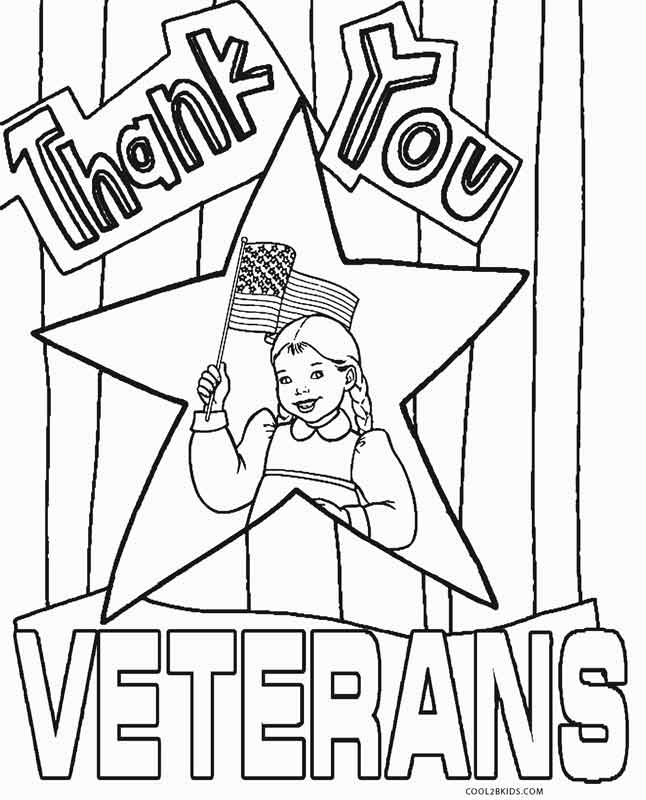 free printable veterans coloring for kids veteran color in christmas ornaments radial coloring pages Veteran's Day Coloring Page