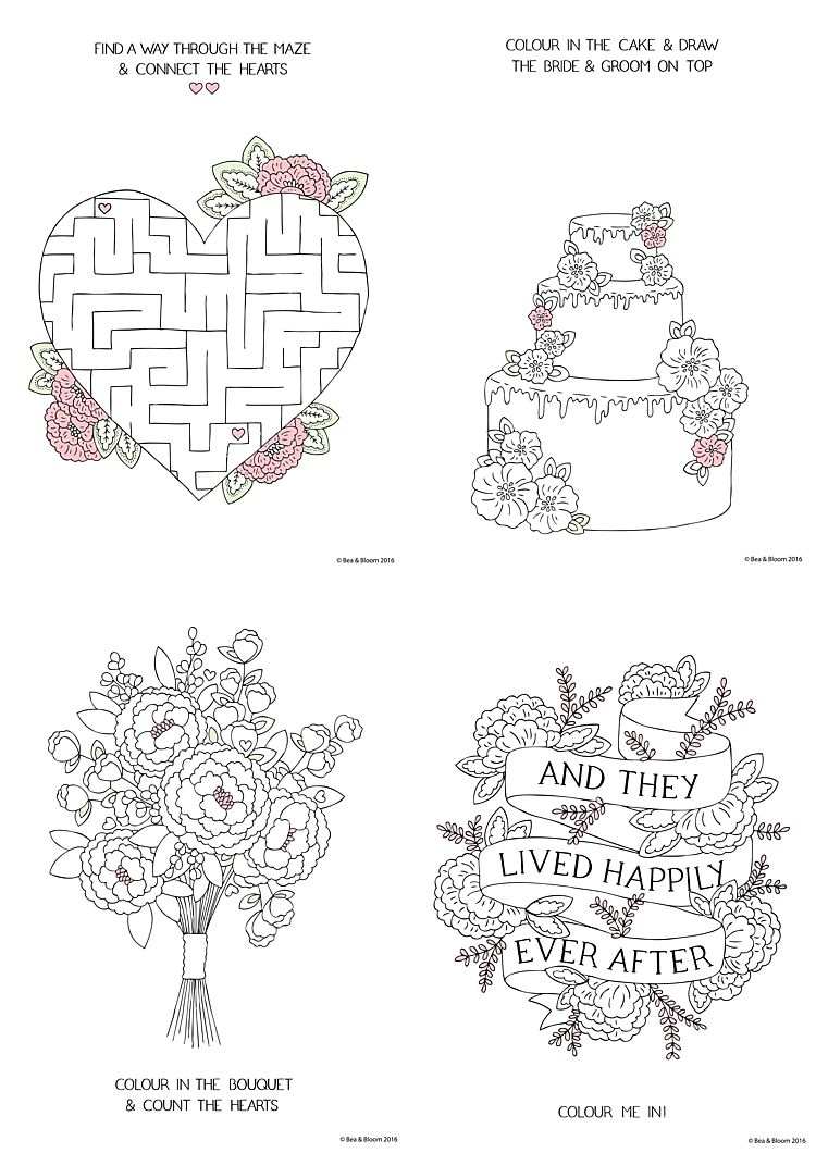 free printable wedding colouring sheets for kids games with printables activity book coloring pages Free Printable Wedding Activity Book Pages