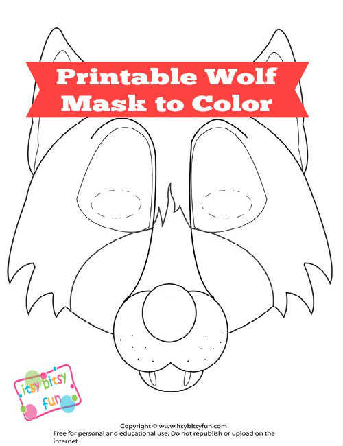 free printable wolf mask template itsybitsyfun orig super squiggles markers coloring pics coloring pages Free Printable Wolf Mask